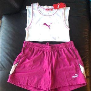 PUMA tank top & shorts set